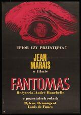 FANTOMAS Polish A1 movie poster LOUIS DE FUNES JEAN MARAIS MYLENE DEMONGEOT