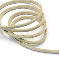 Condon de CUIR Naturel 1,5mm Noir 2 Mètres pour Colliers et Bracelets