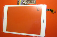 "GL VETRO+TOUCH SCREEN ORIGINALE per ACER ICONIA ONE TAB A1-830 8"" BIANCO DISPLAY"