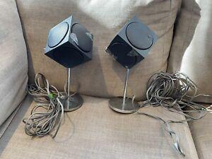 Bang & Olufsen B&O 2500 Cube Speakers, Working. 4ohm