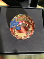 "* Swarovski * Crystal ball with US Flag inside * 1.75"" diameter *  excellent *"