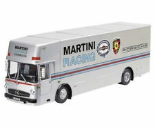 1:18 Schuco mercedes-benz o317 Porsche renntransporter Martini Racing