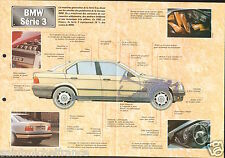 BMW Serie 3 Coupé Touring 4/6 Cyl. 1990 Germany Allemagne Car Auto FICHE FRANCE