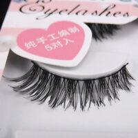 Sale! NEW IHW-50 5 pairs Messy Cross False eyelashes Cotton band eye lashes