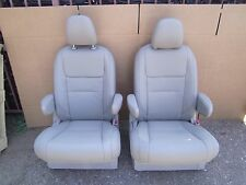 2 BUCKET SEATS TAN BEIGE Leather truck hotrod  classic car van bus