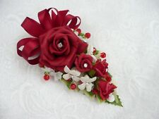 Wedding flower buttonhole deep red rose,& mini lily... PIN ON