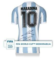 Diego Maradona Official FIFA World Cup Back Signed Argentina 1986 Home Shirt
