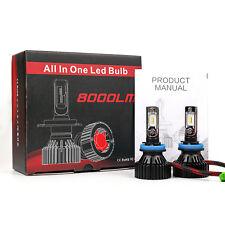 2018 T8 LED 80W 8000LM Bulbs 6000K White High Power Fog Light Kit - H8 (A)