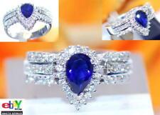 wertvoller exklusiver 1,90ct Brillant Diamant Saphir 585er Goldring Wert 4990 €