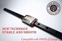 Black MGN12H Linear Sliding Guide / Block 250 ~ 400 ~ 550mm CNC 3D Printer DIY