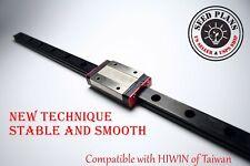 Black Mgn12h Linear Sliding Guide Block 250 400 550mm Cnc 3d Printer Diy