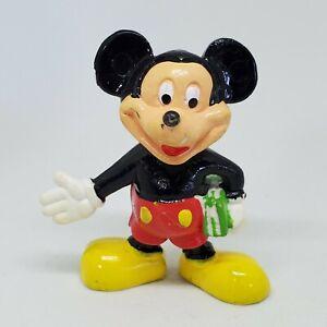 Vtg Mickey Mouse Holding Books PVC Figure Disney Cake Topper Hong Kong School