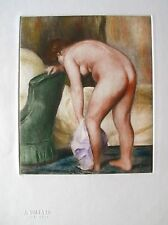 Renoir APRES LE BAIN Etching Ambroise Vollard Estate Stamped Etching