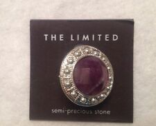 THE LIMITED Semi Precious Lavender Stone Cocktail Ring~Size 6-NWT Orig $22.50