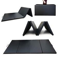 Angel Canada 4 Panel PU Leather Folding Gymnastics Gym Fitness Exercies(black)