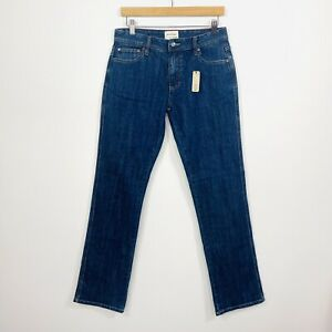 Mustang Womens Jeans Straight Leg Mid Rise Blue Stretch Size 12 NWT