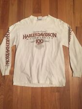 Harley Davidson 100th Anniversary Long Sleeve Shirt BALA'S Wisconsin Dells, WI