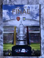 2015 FA Cup Final Programme Arsenal v Aston Villa