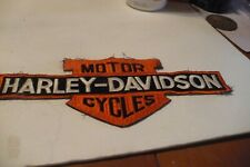 "Harley Davidson Bar & Shield Patch ""Large"""