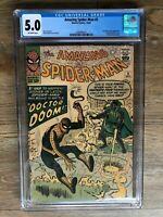 Amazing Spider-Man #5 CGC 5.0 Marvel 1963 Doctor Doom