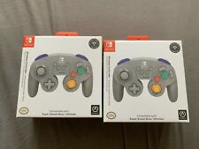 (2 Pack) PowerA GameCube Style Wireless Controller for Nintendo Switch - Grey