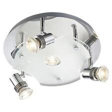Lámpara LED de techo Artena Rendondo 10w Vidrio Blanco Cálido Moderno Reflector