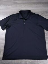 Mens Adidas Golf Puremotion  Black Golf Polo Shirt Size XL