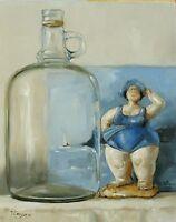 Original Art - Oil painting -  still life by artist john payne
