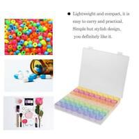 Plastic 56 Slots Adjustable Jewelry Storage Boxes Cases Craft Organizer Beads