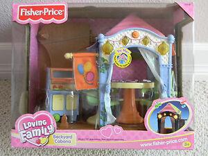 NEW Fisher Price Dollhouse Loving Family Backyard Cabana Doll House Accessory