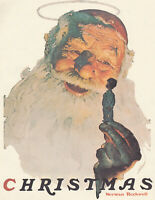 MERRY AND JOLLY SANTA  AT CHRISTMAS   NORMAN ROCKWELL  8x10 Poster Print
