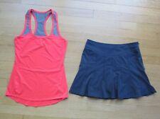 Athleta Two Athletic Workout Clothing Top & Skort  Women's Size XXS / 0