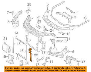 Mercedes MERCEDES-BENZ OEM ML350 Radiator Core Support-Sensor Bracket 1666264031