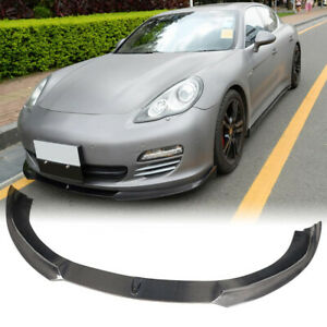 Fit for Porsche Panamera Base 10-13 Real Carbon Fiber Front Bumper Lip Spoiler