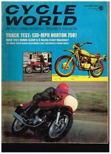 CYCLE WORLD DECEMBER 1969 CONTENTS IN SECOND  PHOTO HONDA SL350 NORTON 750 RACER