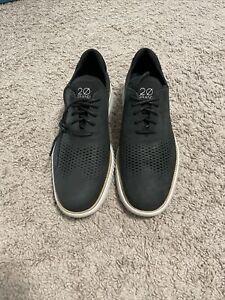 Cole Haan 2 Zerogrand Black Leather Nubuck Gray Wingtip size 10.5 M C23807