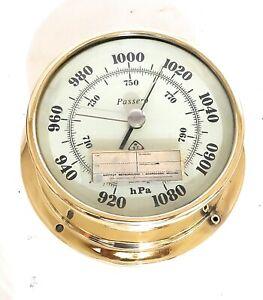 Brass Passero Poland Ships Boat Weather Aneroid Barometer IMI-139