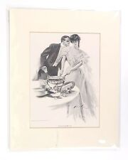 Critical Moment print 1905 Charles Scribner's Sons NY Harrison Fisher copy