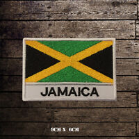 JAMAICA Flag With Name Embroidered Iron On Sew On Patch Badge For Clothes Etc