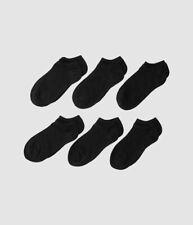 $89 Stride Rite Unisex Big Kid's Black William 6-Pack Ankle Socks Shoe 4-8