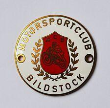 Motorradplakette Motorrad Plakette Emaille MCB Motorsportclub Bildstock 6,1 cm
