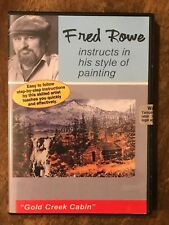BRAND NEW Fred Rowe, DVD 'Gold Creek Cabin', Knife Painting Teacher