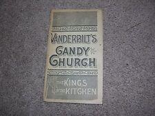 Vanderbilt's Candy Church Booklet, Cookbook/Recipes