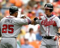 Chipper Jones & Andrew Jones 8 x 10  PHOTO REPRINT Atlanta Braves MLB baseball