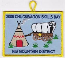 BOY SCOUT PATCH - SAMOSET COUNCIL - RIB MT. DIST - 2006 CHUCKWAGON - 23RD ANNUAL