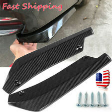 2x Car Auto Carbon Fiber Rear Bumper Lip Diffuser Splitter Canard Protector Top
