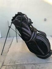 Nike Golf Carry/Stand Bag Lightweight Dual-Strapped Black/Grey 6 Divider W/ Hood
