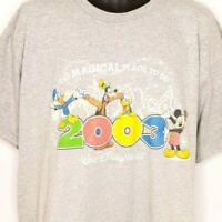 Walt Disney World T Shirt Vintage 2003 Mickey Mouse Donald Duck Goofy Size Large