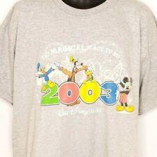 Walt Disney World T Shirt Vintage 2003 Mickey Mouse Donald Duck Goofy Size Large