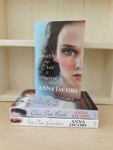 Collection of 3 x Paperback Saga Romance Books Anna Jacobs Cherry Tree Lane NEW